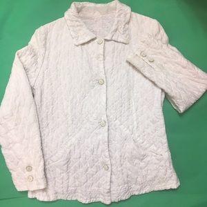 ERMANNO SCERVINO Quilted Ivory Blazer Jacket